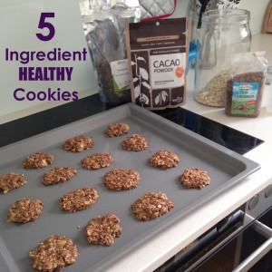 5 ingredient cookies with text