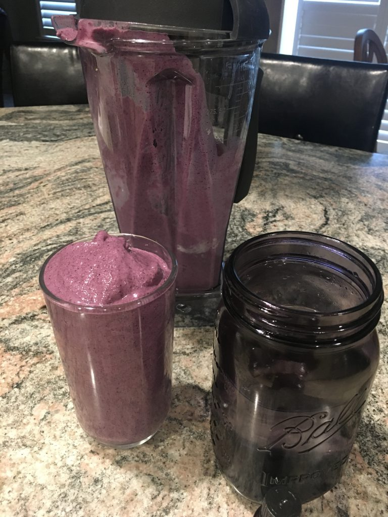 blueberry protein smoothie post workout meal
