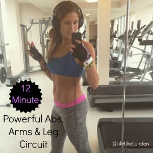 powerful abs arms and leg circuit